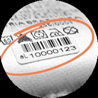 Foto de código de barras para acompanhamento de suas peças na lavanderia aLavadeira.com